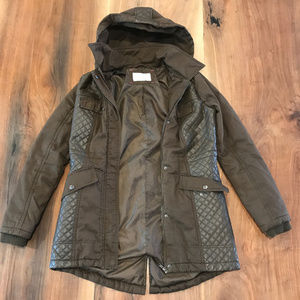 XhilaratIon green quilted utility jacket / parka